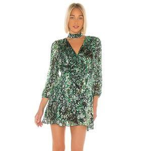 Alice + Olivia Rita Green Snakeskin Dress 6